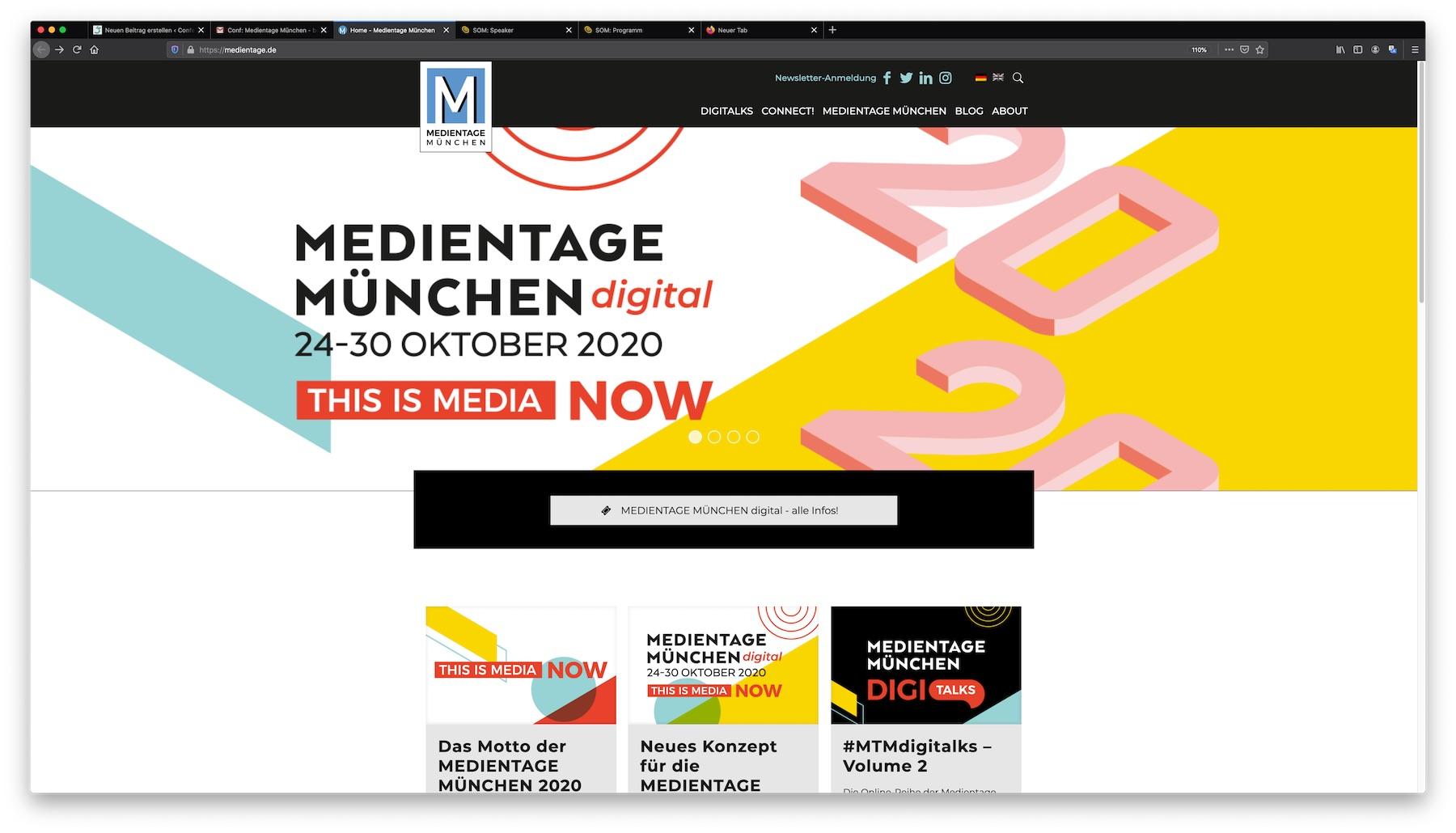 Medientage Muenchen Online-Konferenz