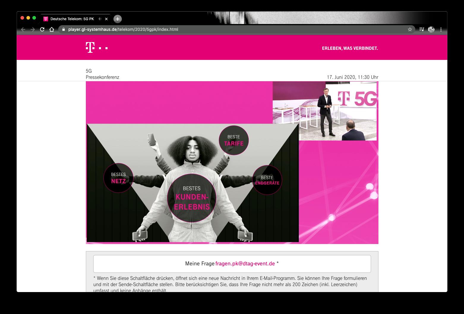 Telekom digital pressekonferenz online PK