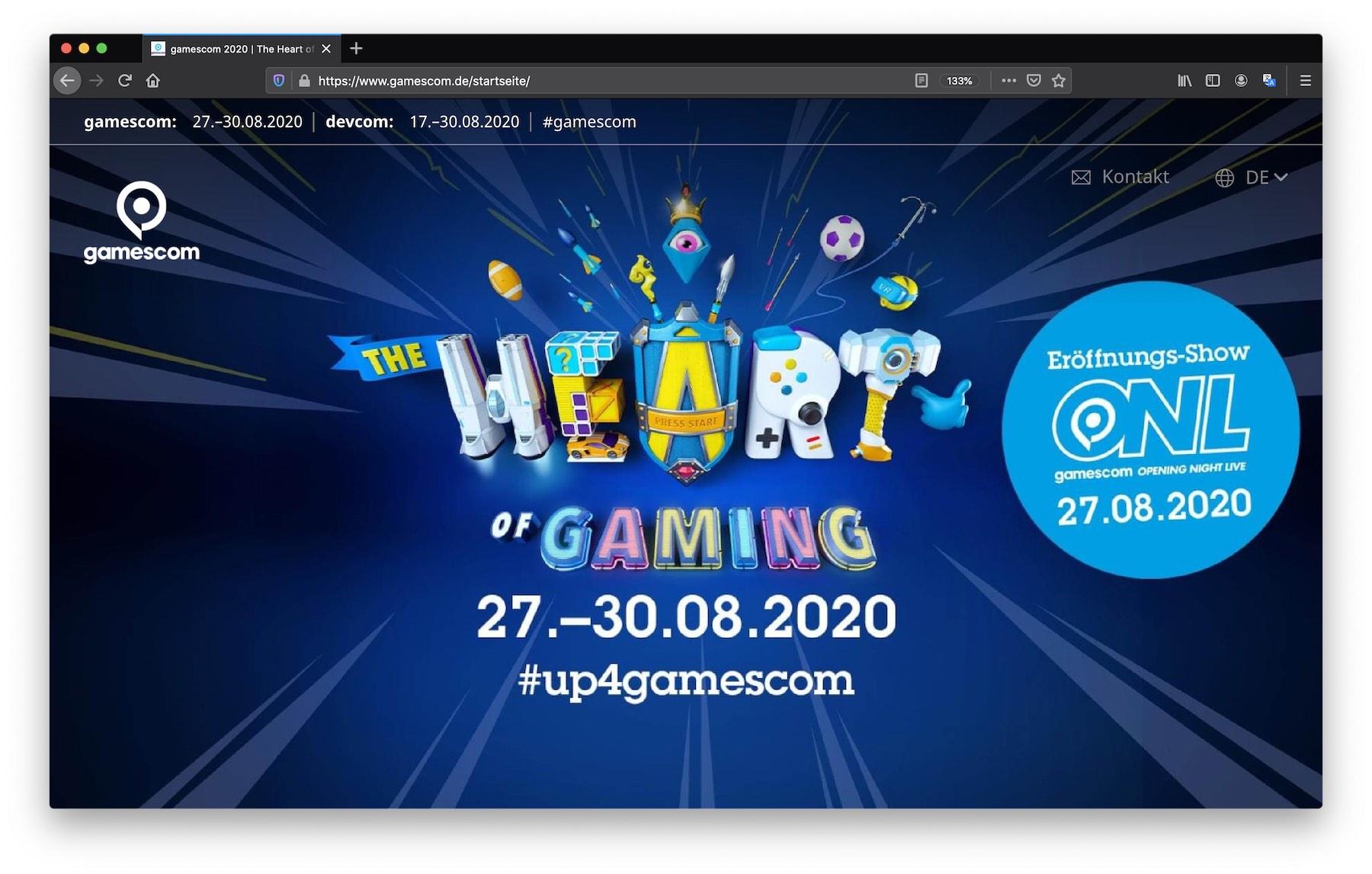 gamescom 2020 Live-Video-Event