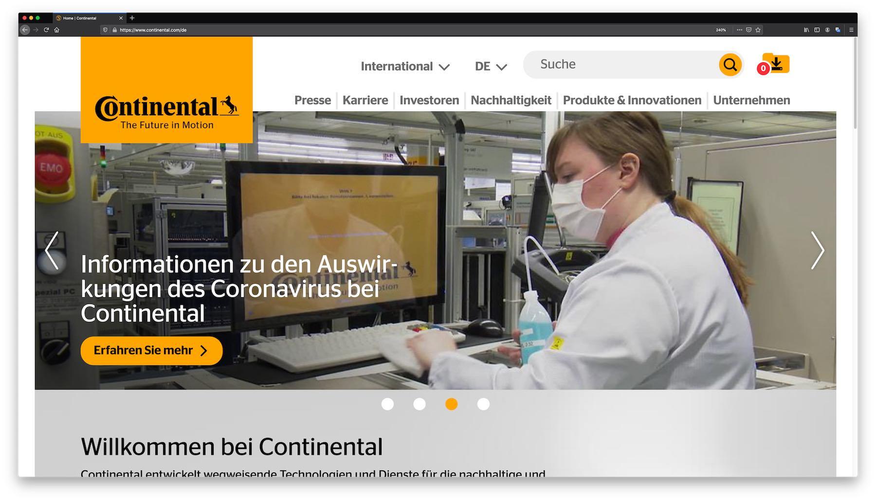 Continental Video-Konferenzen