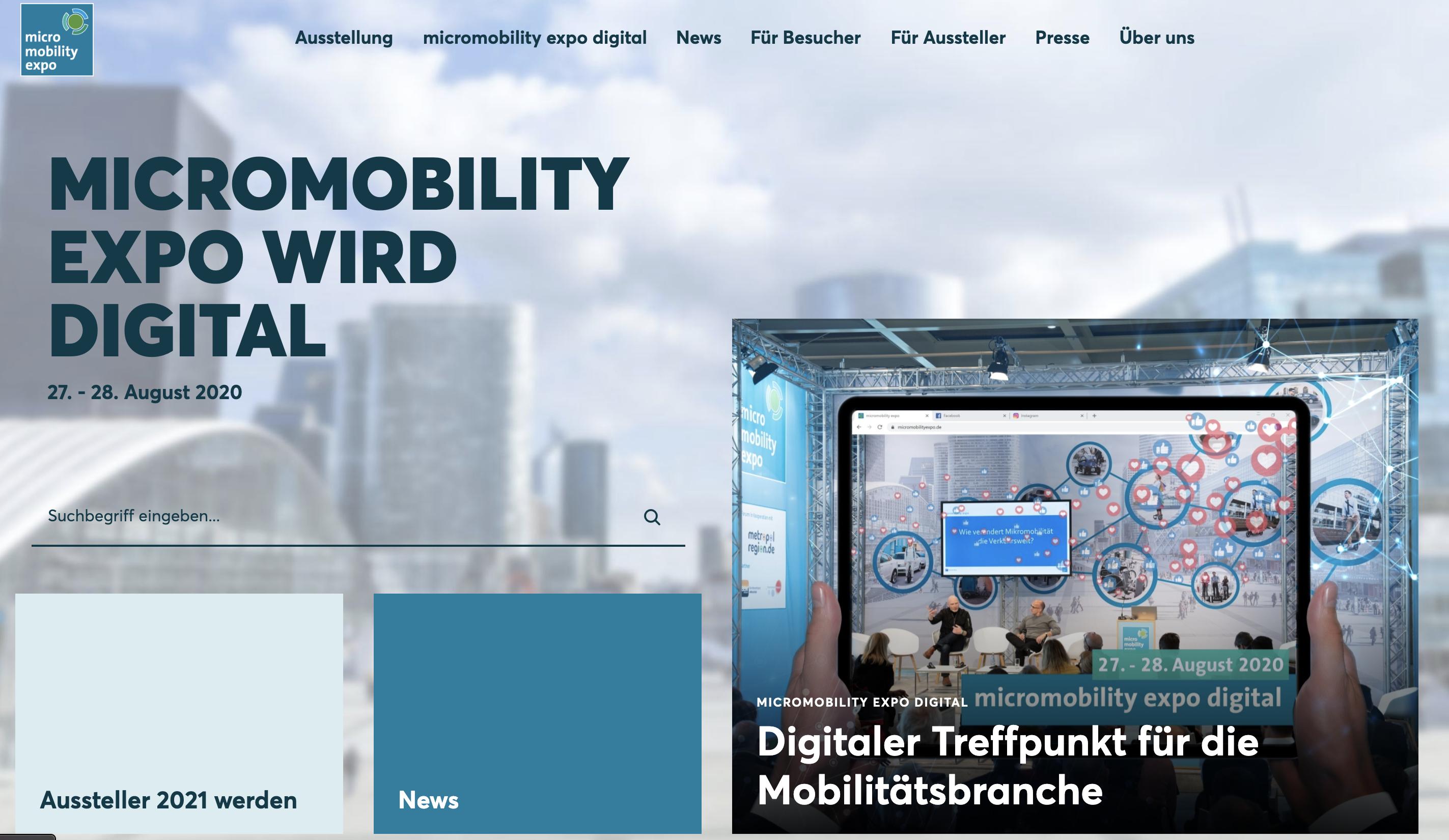 digital konferenz messe micro mobility