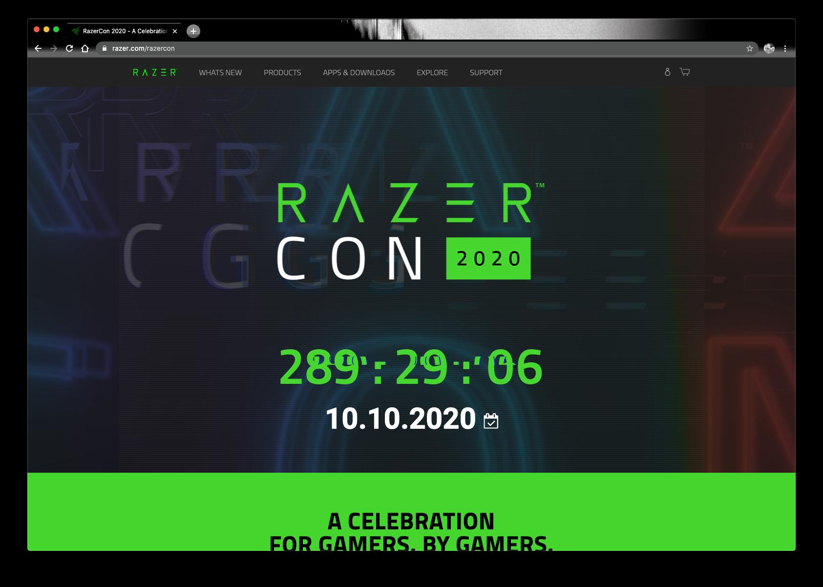 Video Event razercon live stream