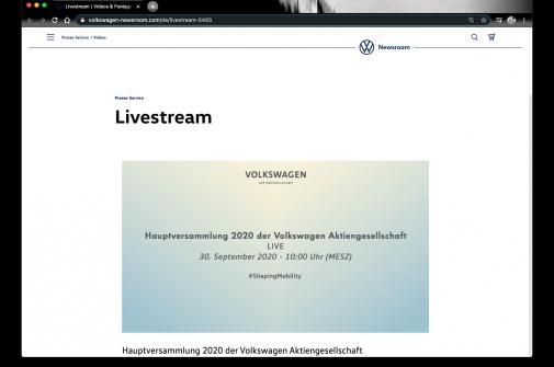 Volkswagen Hauptversammlung Live-Stream