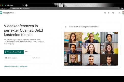 Live-Video Dienst Google-Meet jetzt über Gmail-App möglich